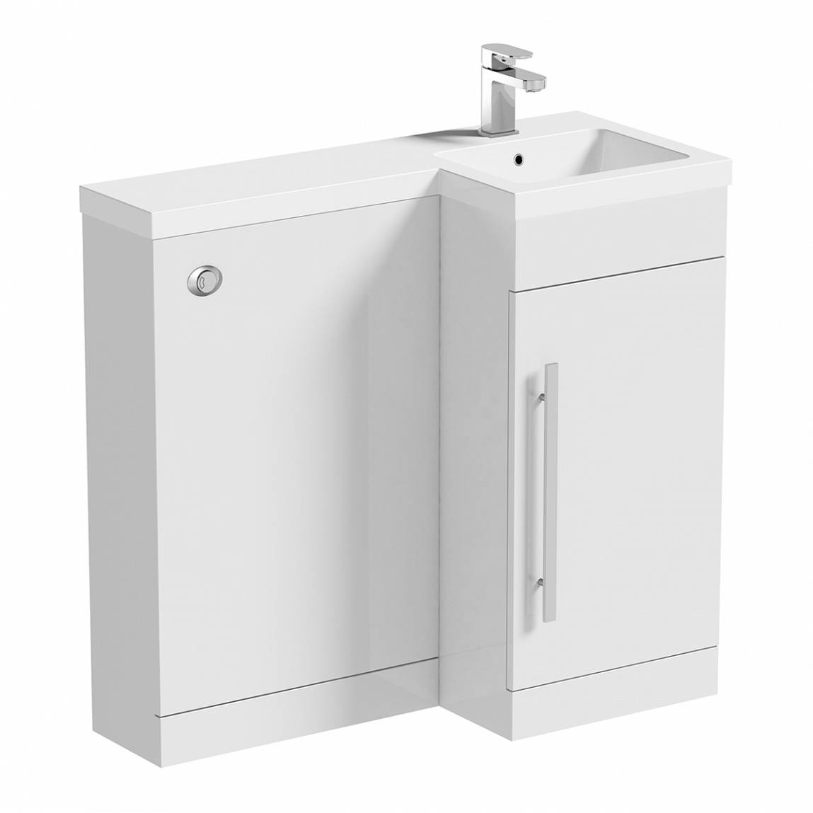 Image of MySpace White Combination Unit RH including Concealed Cistern