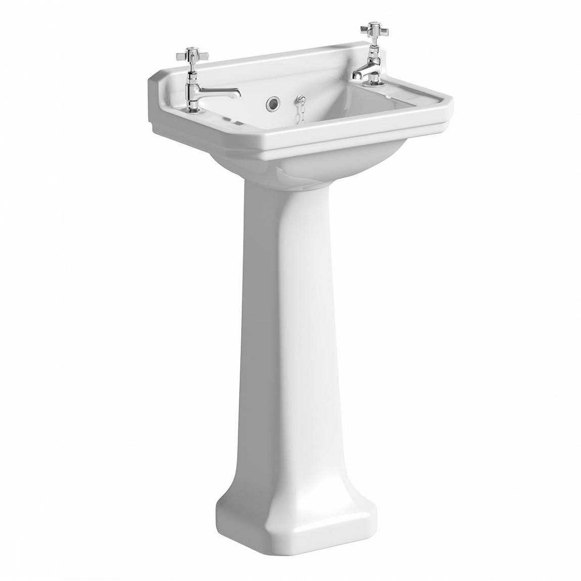 Image of Camberley 2TH Cloakroom Basin & Pedestal