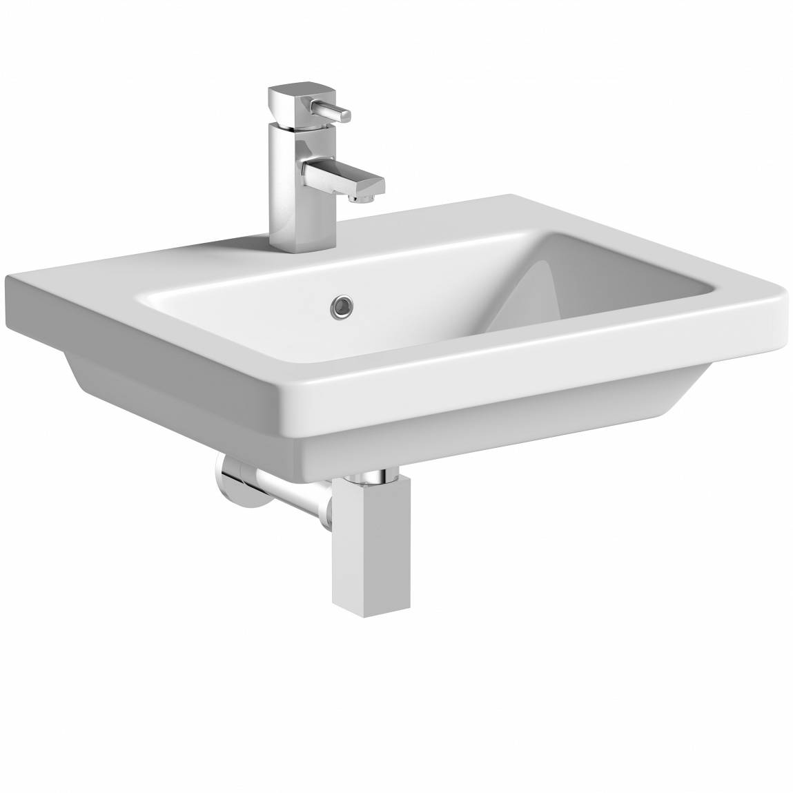 Image of Verso 1TH 550mm Wall Hung Basin