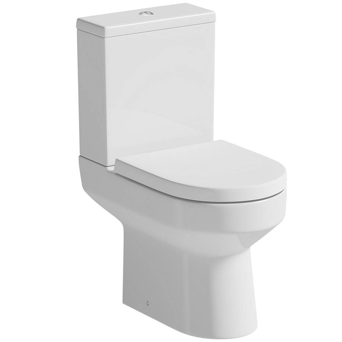 Image of Oakley Close Coupled Toilet inc. Luxury Soft Close Seat