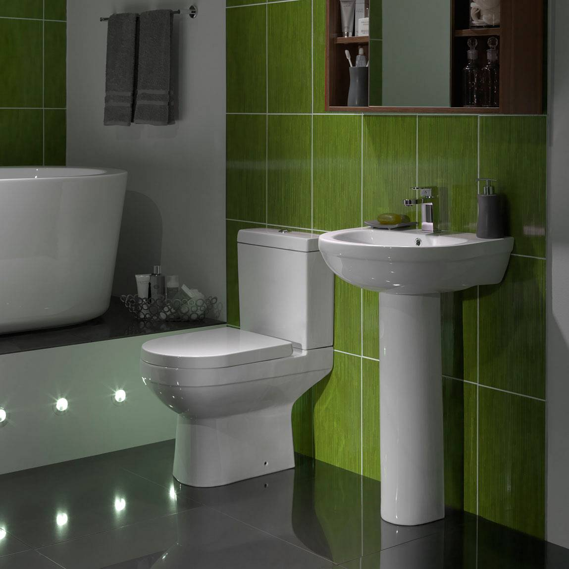 Balance Close Coupled Toilet inc. Quick Release Soft Close Seat