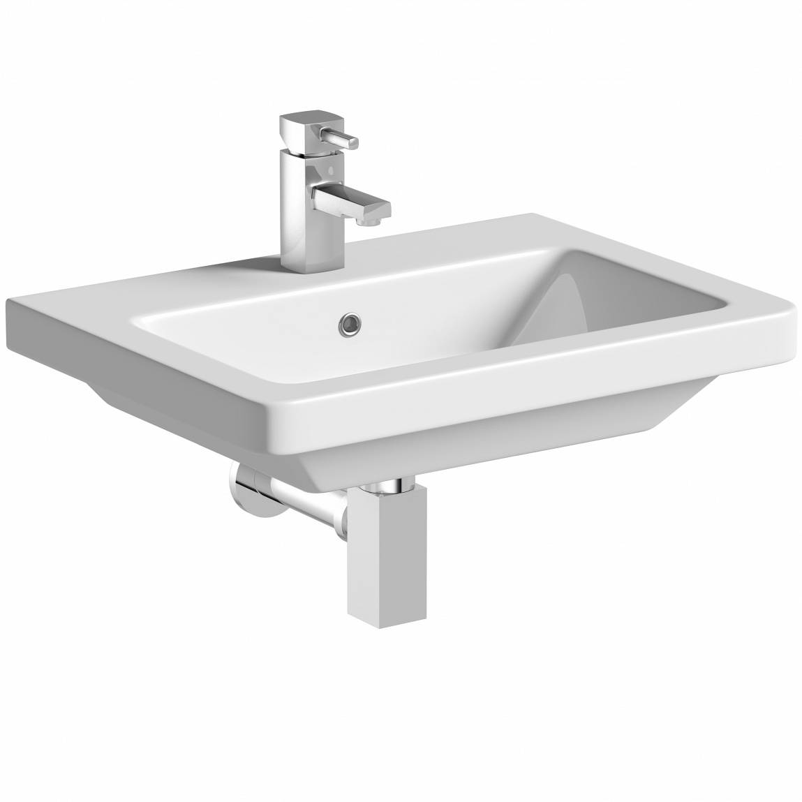 Image of Verso 1TH 600mm Wall Hung Basin