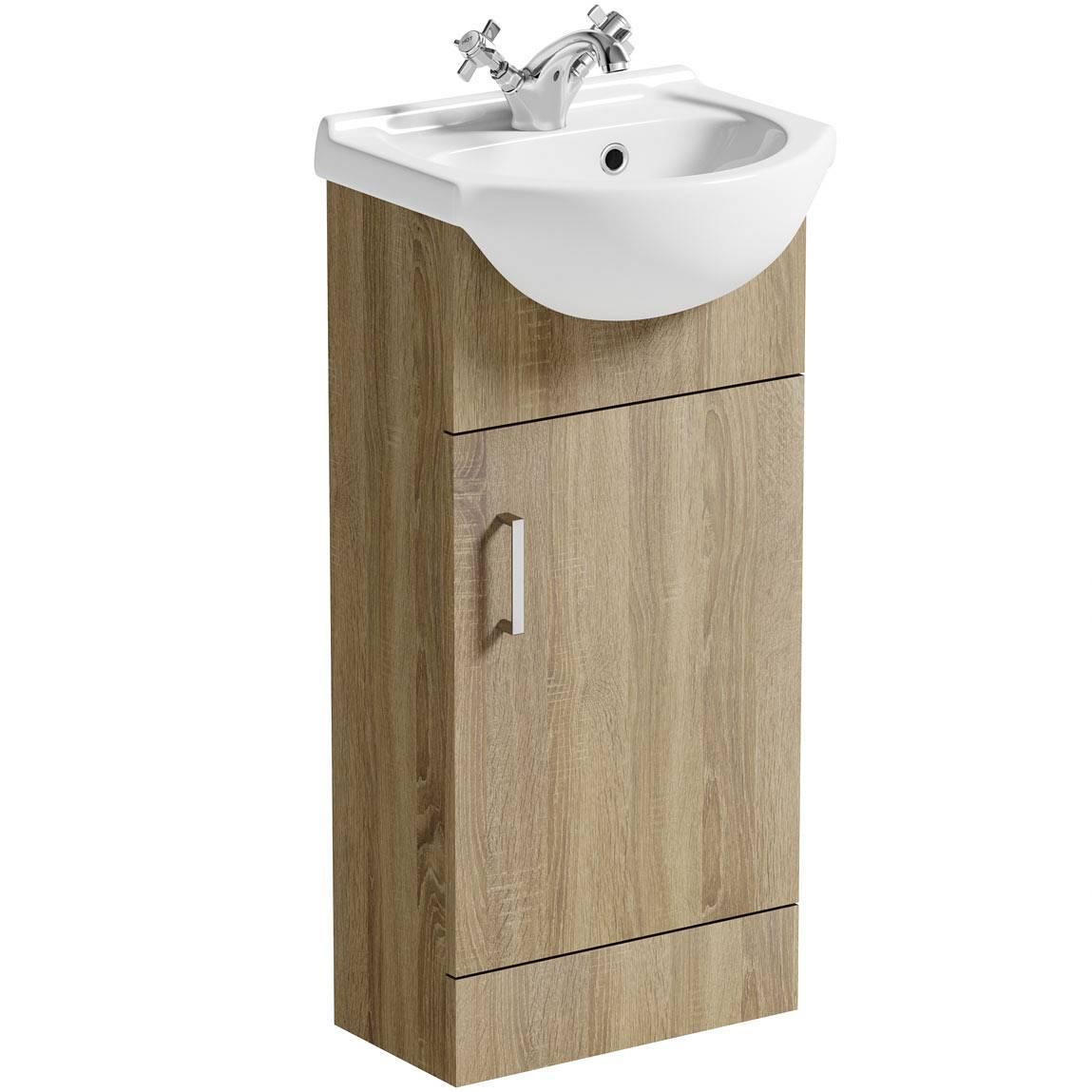 Image of Sienna Oak 41 Vanity Unit & Basin