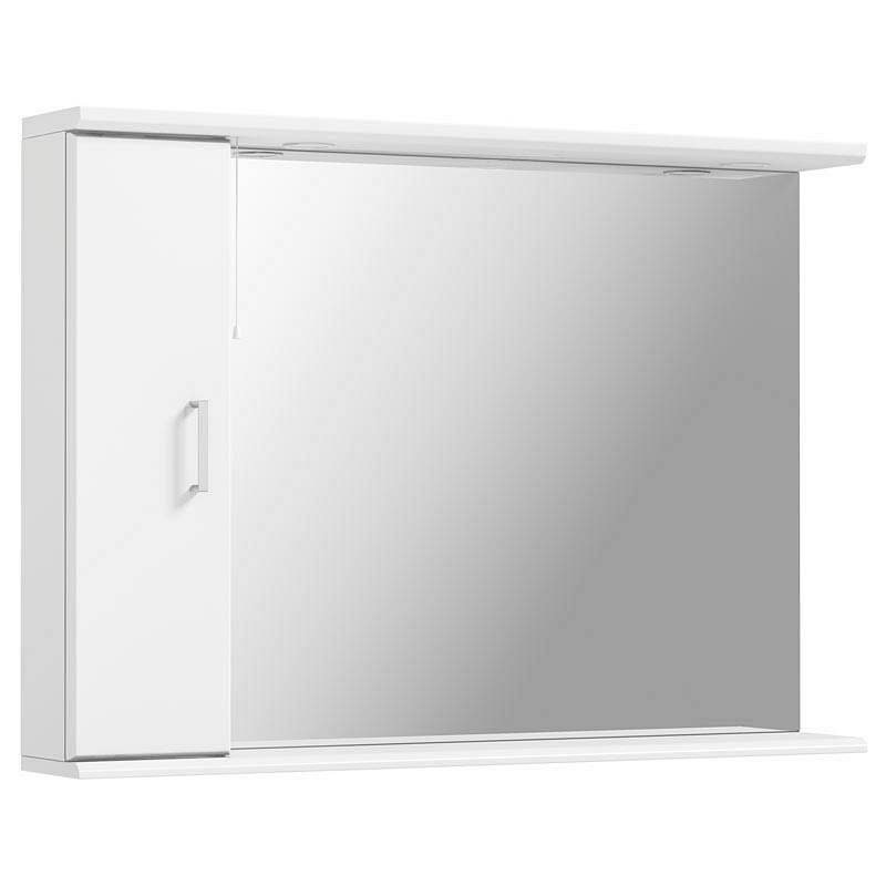 Image of Sienna White 105 Mirror with lights