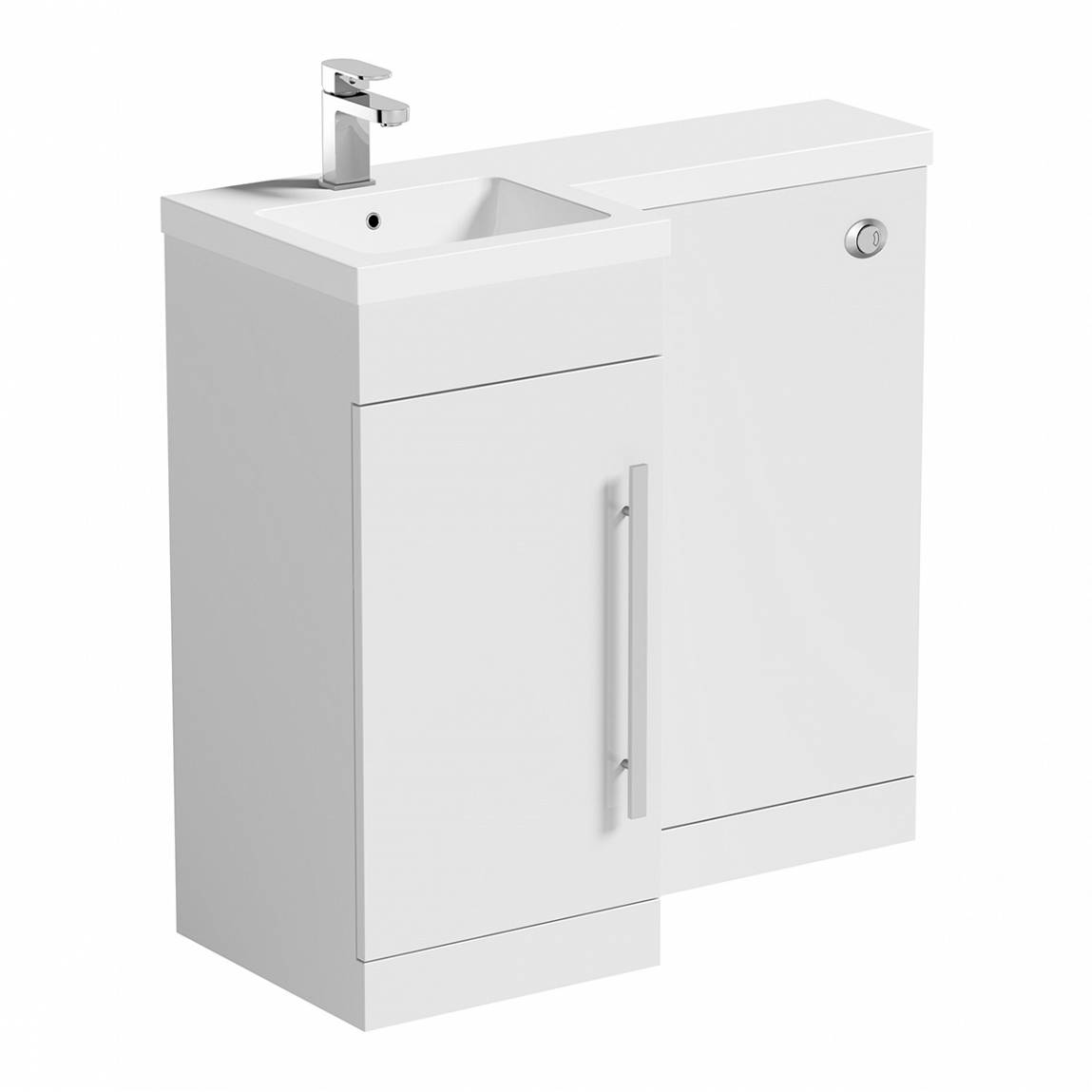 Image of MySpace White Combination Unit LH including Concealed Cistern