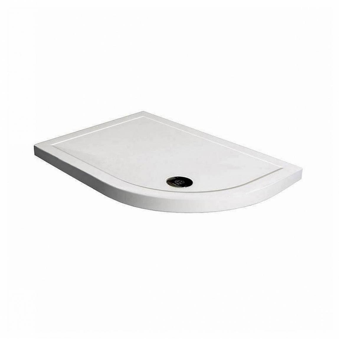 Image of Offset Quadrant Stone Shower Tray 1000 x 800 RH