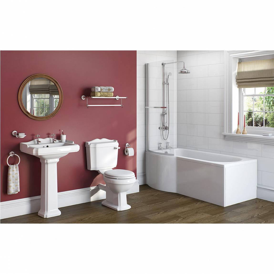 Winchester Master Suite: Winchester Bathroom Suite With Evesham 1700 X 850 Shower