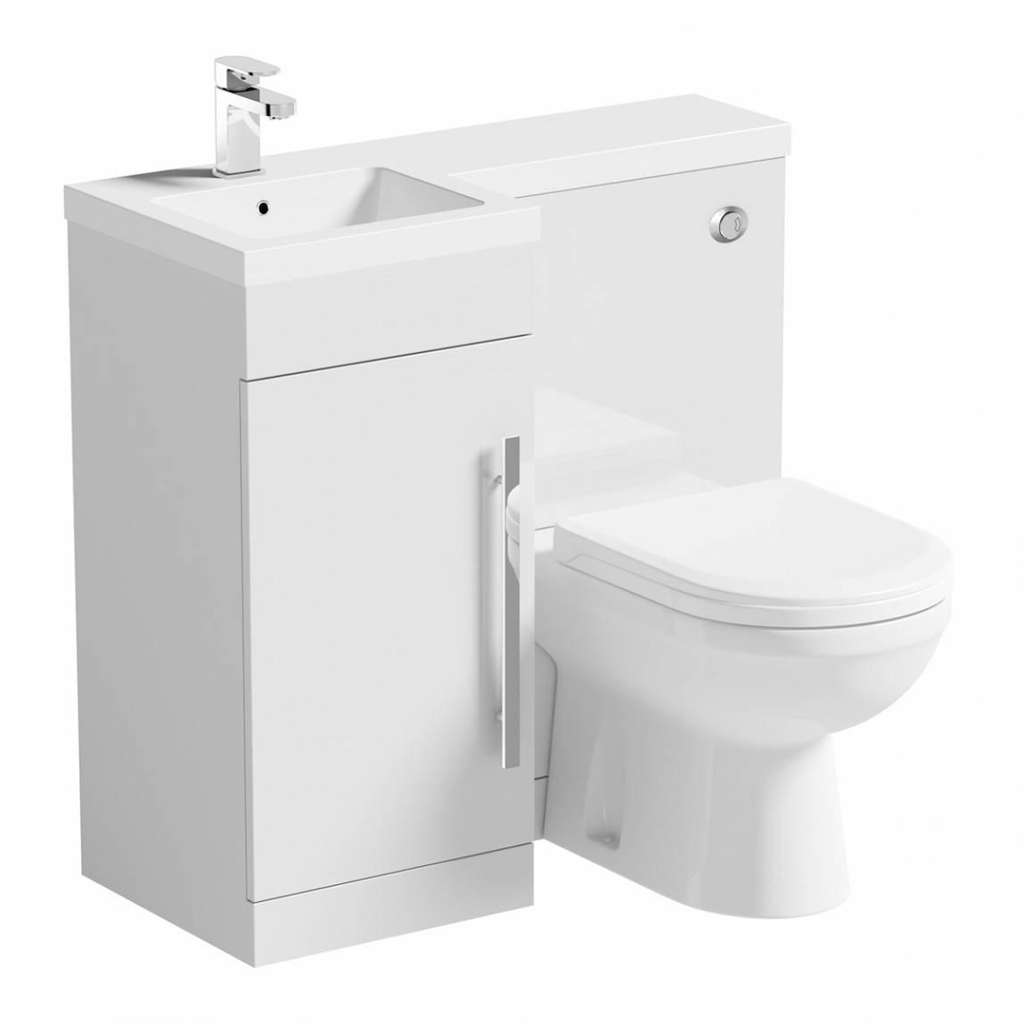 Image of MySpace White Combination Unit LH with Autograph BTW Toilet