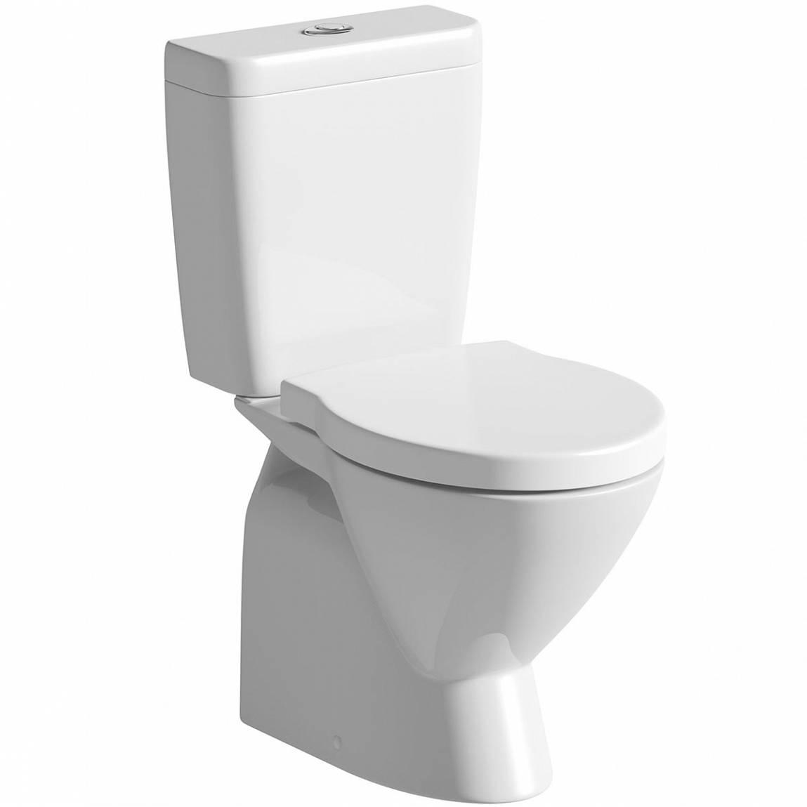 Image of Ancona Close Coupled Toilet Inc Luxury Toilet Seat PLUS Pushfit Valve
