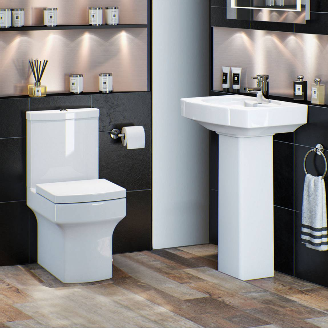 Image of Vermont Toilet and Basin Suite