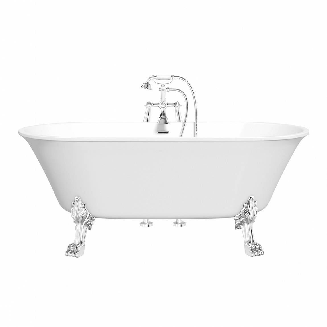 Image of Camberley Roll Top Bath with Dragon Feet