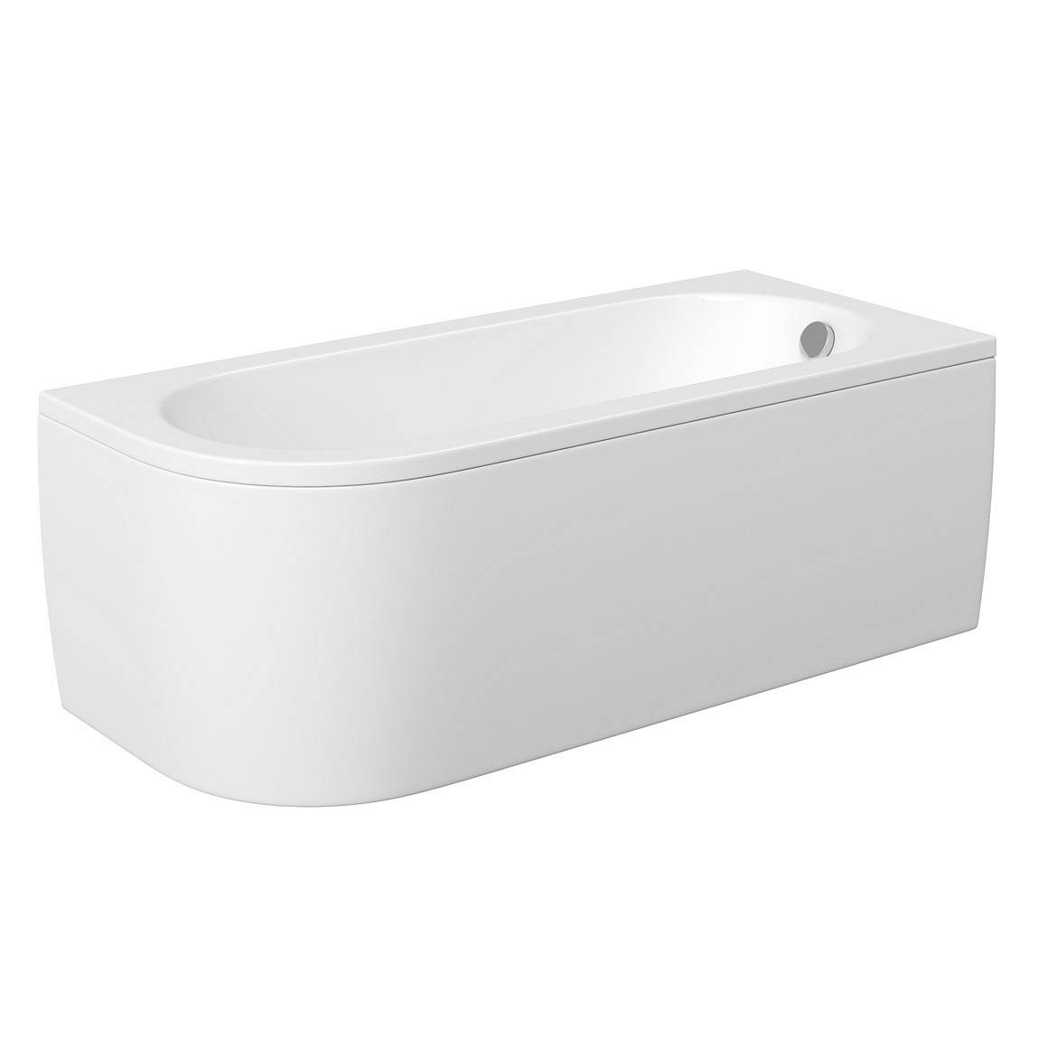Image of Cayman D Shaped Single Ended Back To Wall Bath RH Special Offer