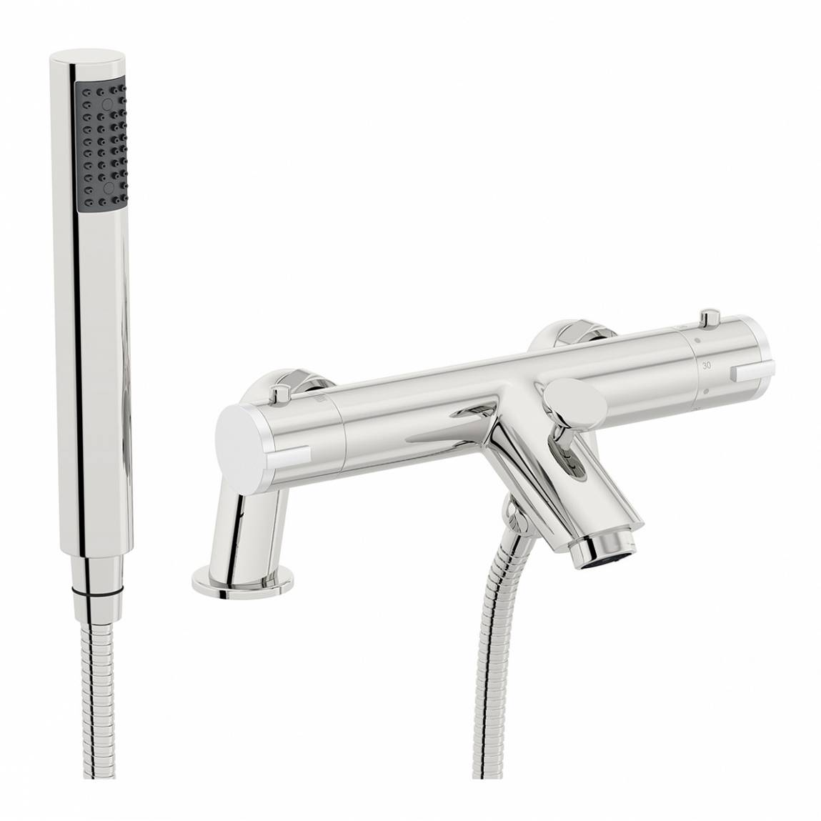 Image of Thermostatic Bath Shower Mixer (Wall or Surface Mount)
