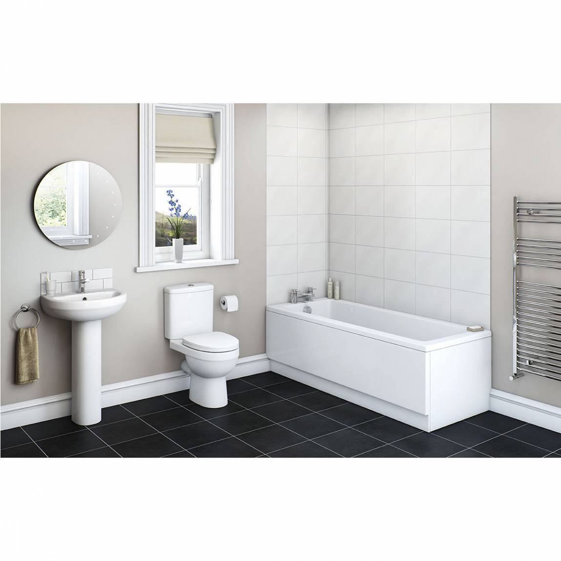 Image of Energy Bathroom Set with Kensington 1500 x 700 Bath Suite