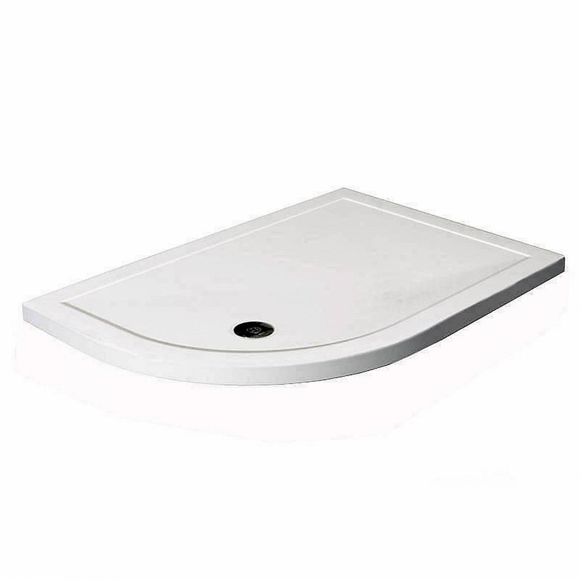 Image of Offset Quadrant Stone Shower Tray 1200 x 800 LH