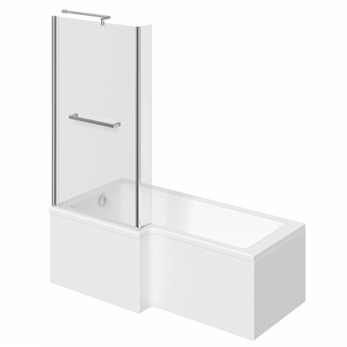 Image of Boston Shower Bath 1500 x 850 LH inc. Screen & Towel Rail
