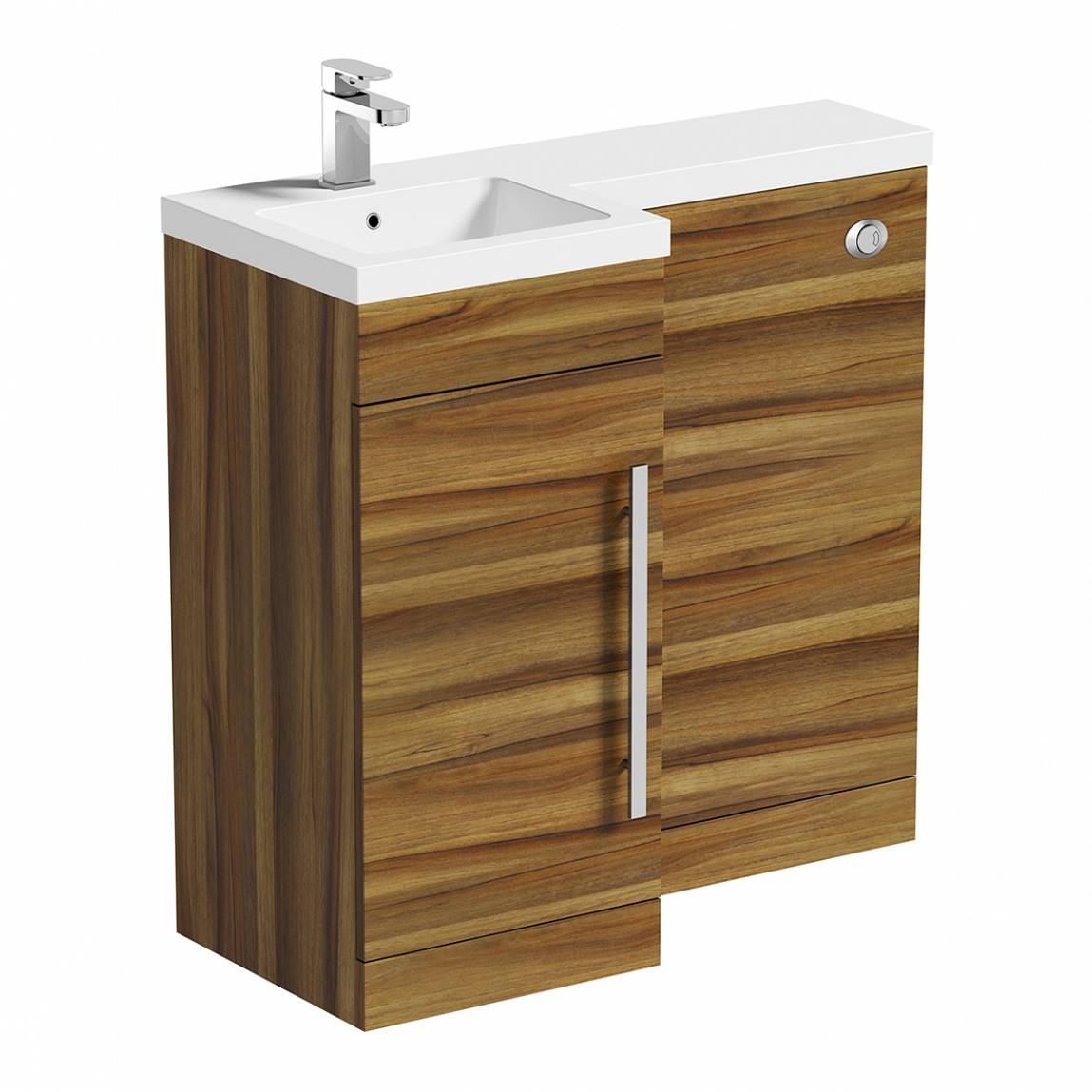 Image of MySpace Walnut Combination Unit LH including Concealed Cistern
