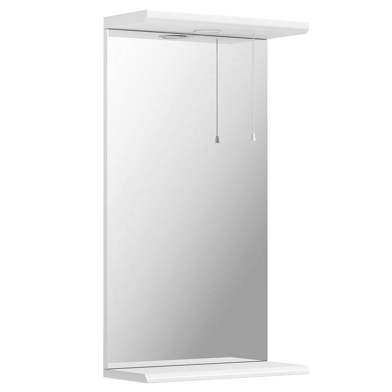 Image of Sienna White 41 Mirror with Lights