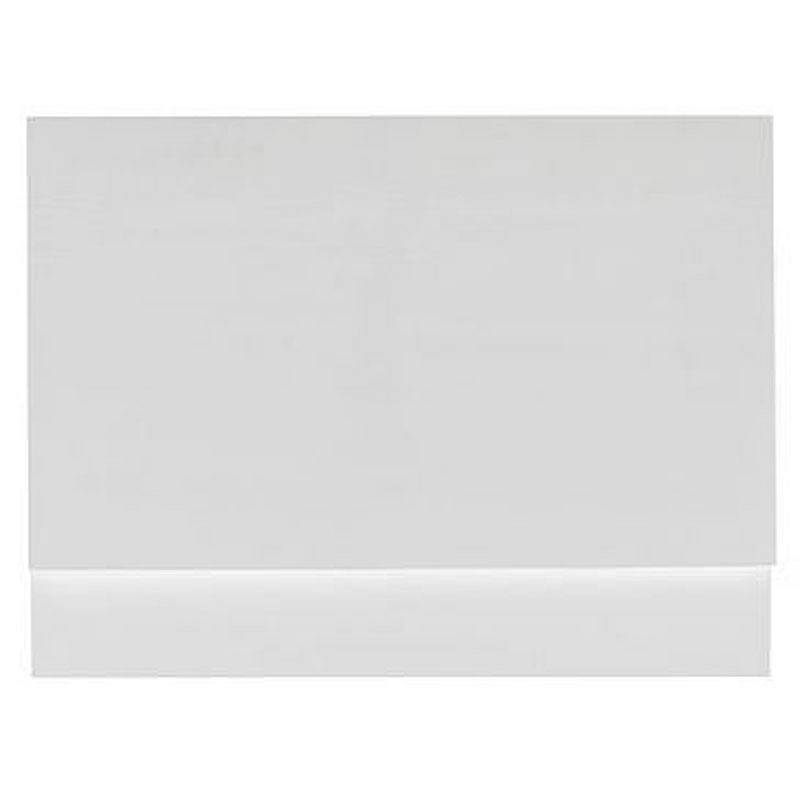 Image of Gloss White Wooden Bath End Panel 800