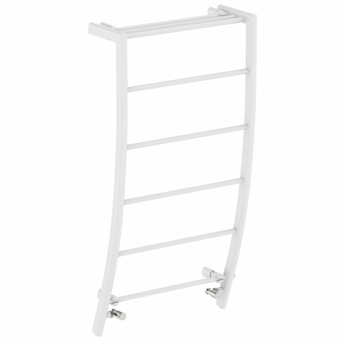 Image of White Curved Heated Towel Rail 1200 x 600