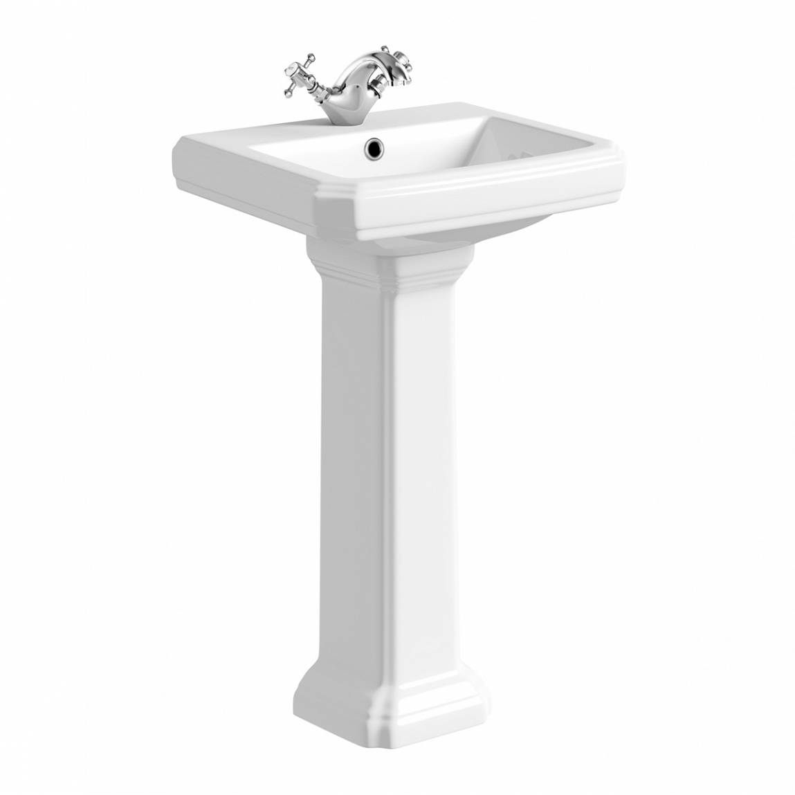 Image of Cavendish 500mm 1TH Basin and Pedestal