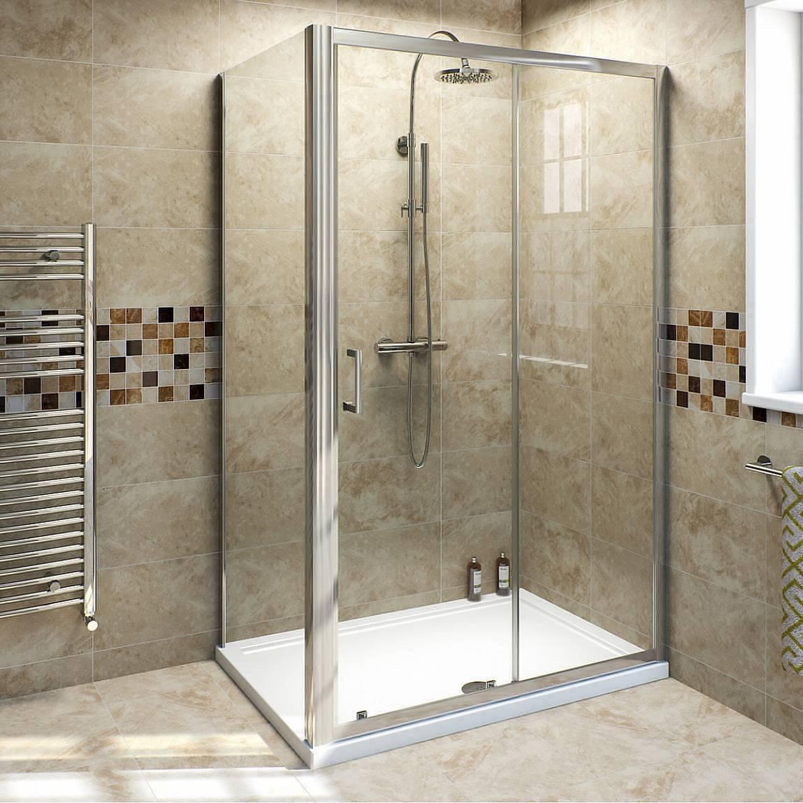 Image of V6 6mm Sliding Shower Enclosure 1000 x 760
