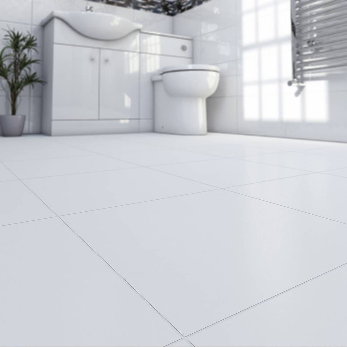 Oria matte super white ceramic floor tile 33cm x 33cm for White ceramic tile bathroom