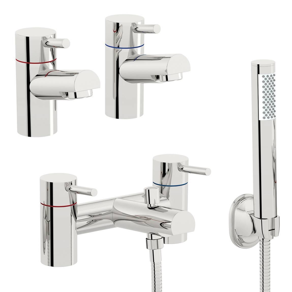 Image of Matrix Basin Tap and Bath Shower Mixer Pack