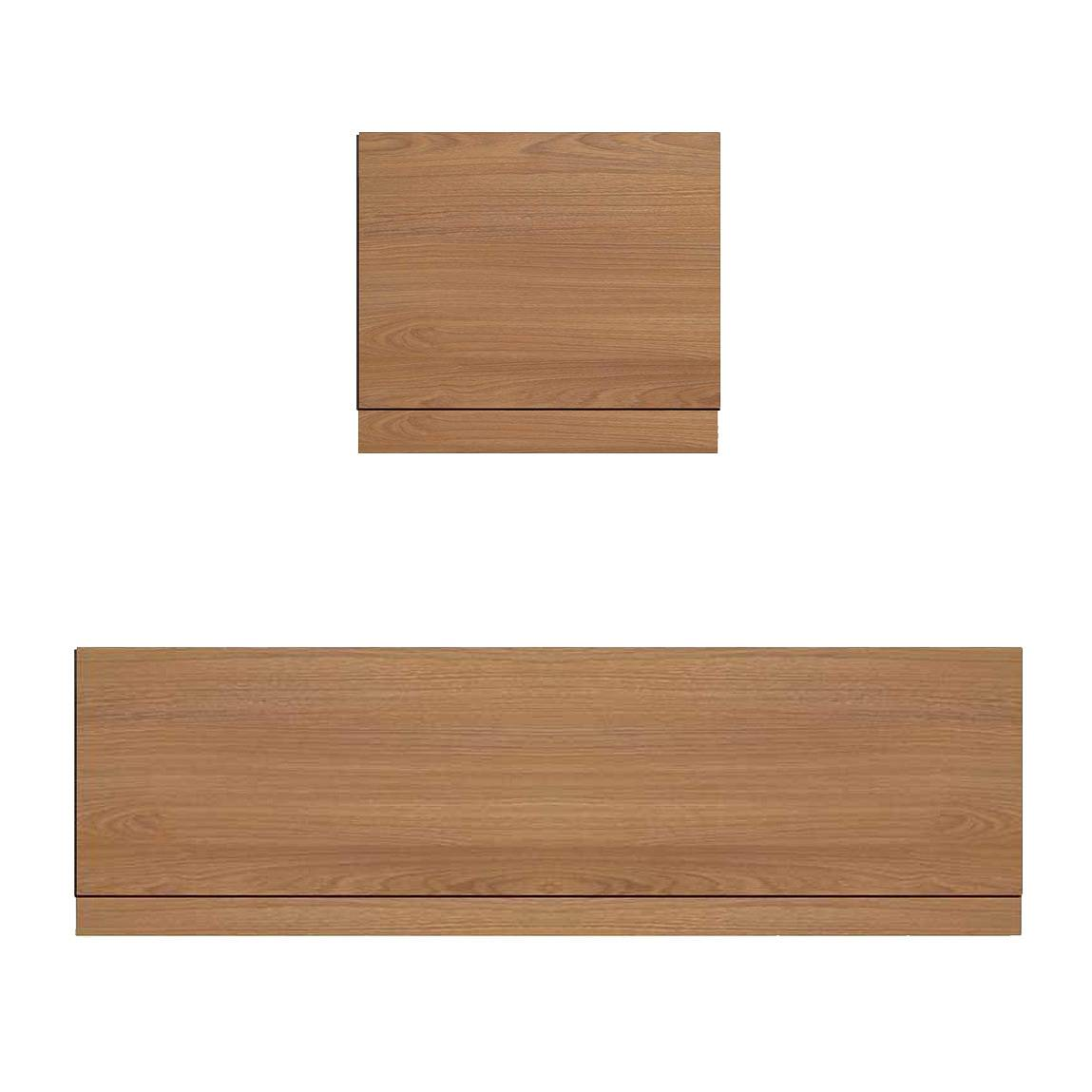 Image of Oak Effect Straight Bath Panel Pack 1700 x 700
