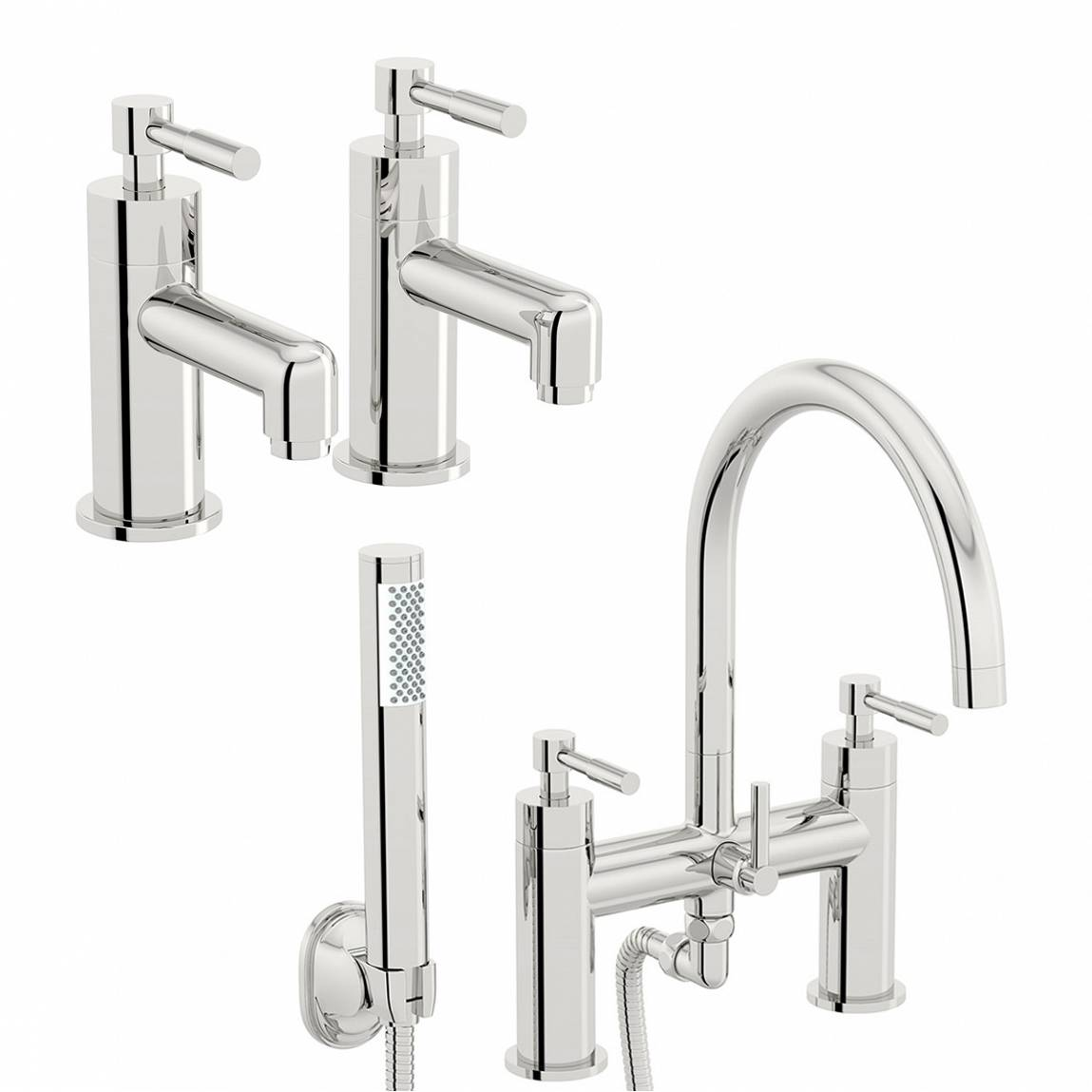 Image of Secta Basin Taps and Bath Shower Mixer Pack