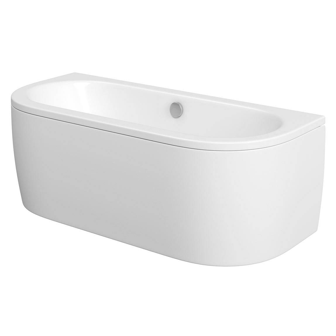Image of Cayman D Shaped Doubled Ended Back To Wall Bath