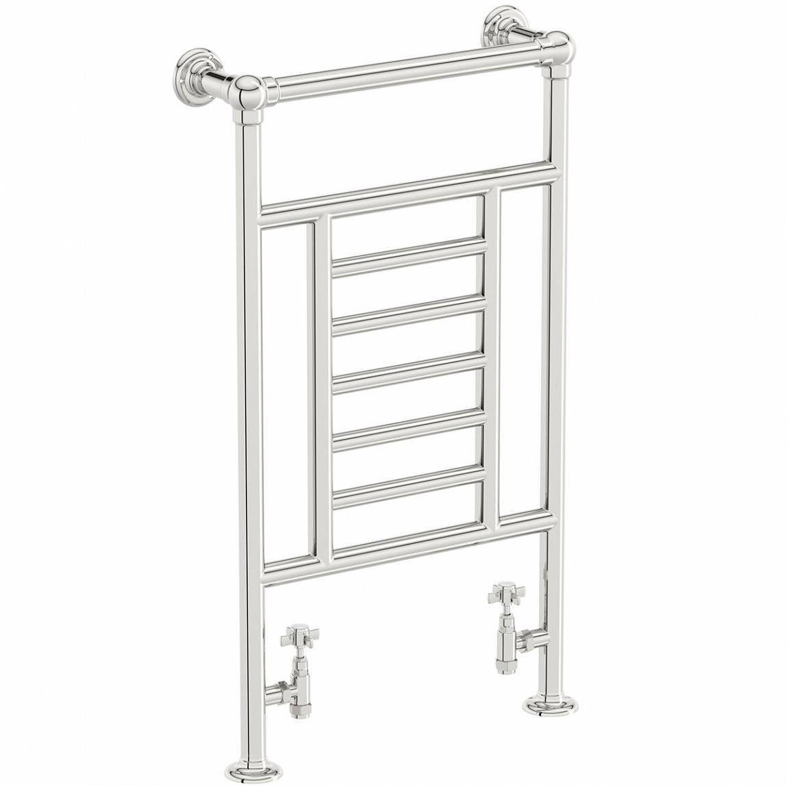 Image of Buckingham Heated Towel Rail PLUS Traditional Valves