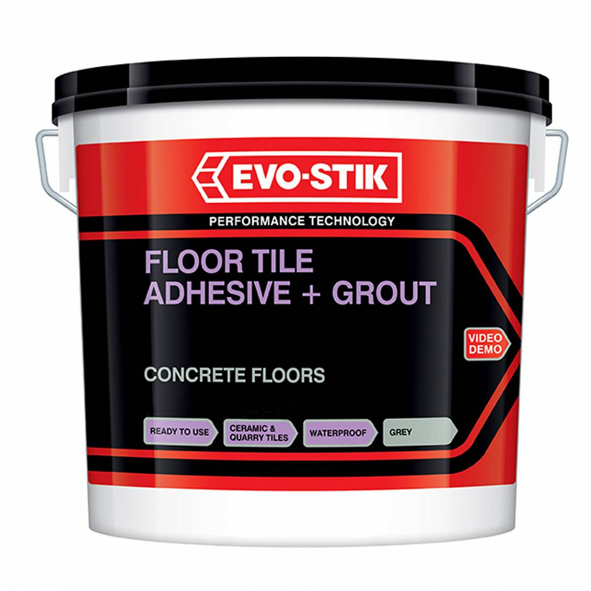 Bathroom Tile Adhesive And Grout: Concrete Floor Adhesive & Grout Large Grey 5L