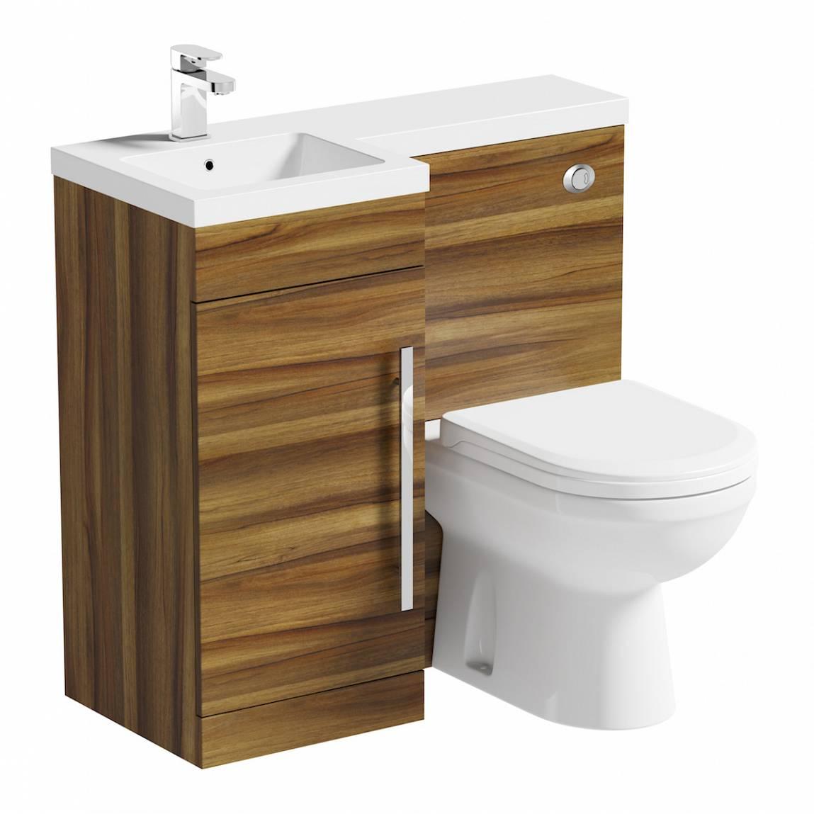 Image of MySpace Walnut Combination Unit LH with Autograph BTW Toilet