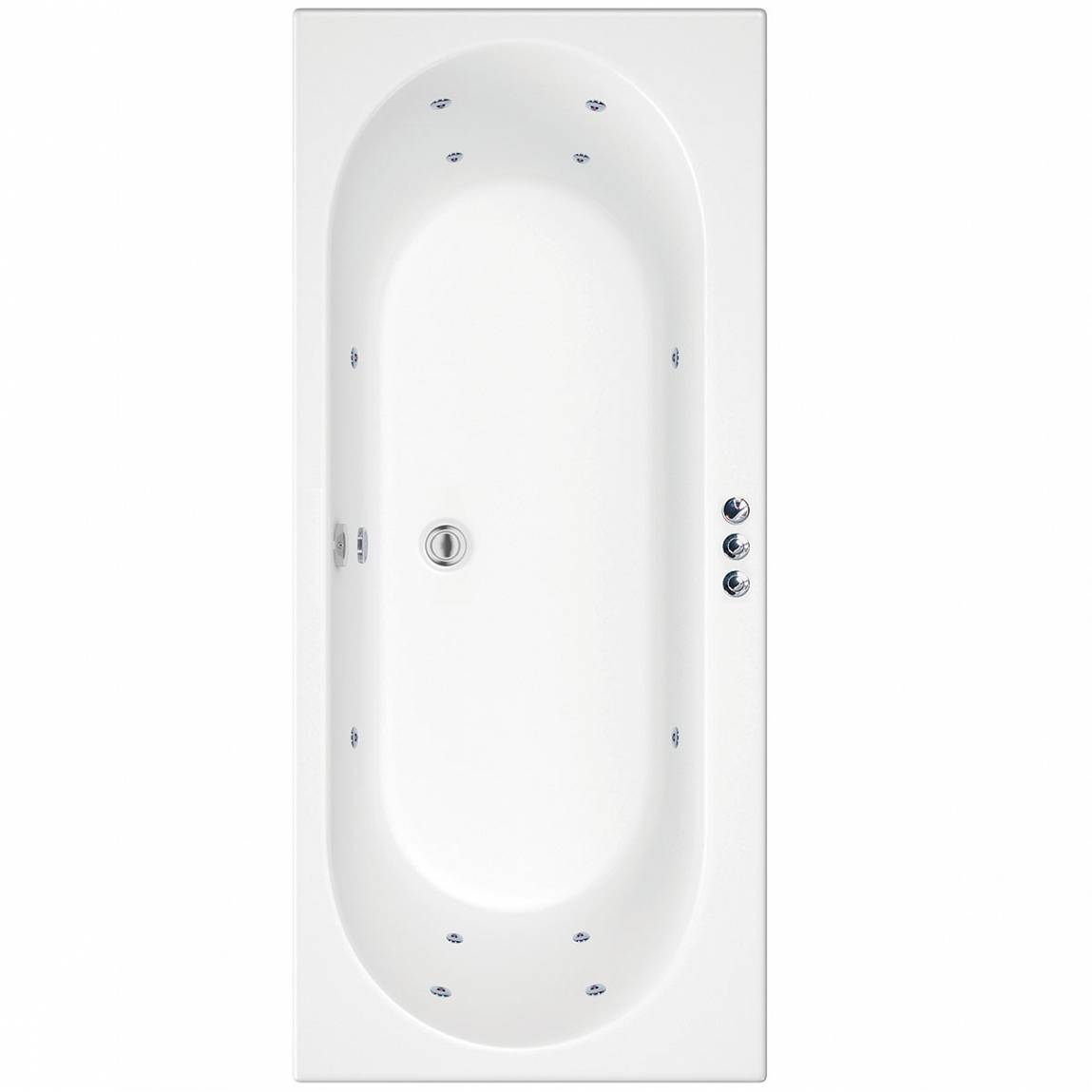 Image of Islington 1800 x 800 Double End Whirlpool Bath