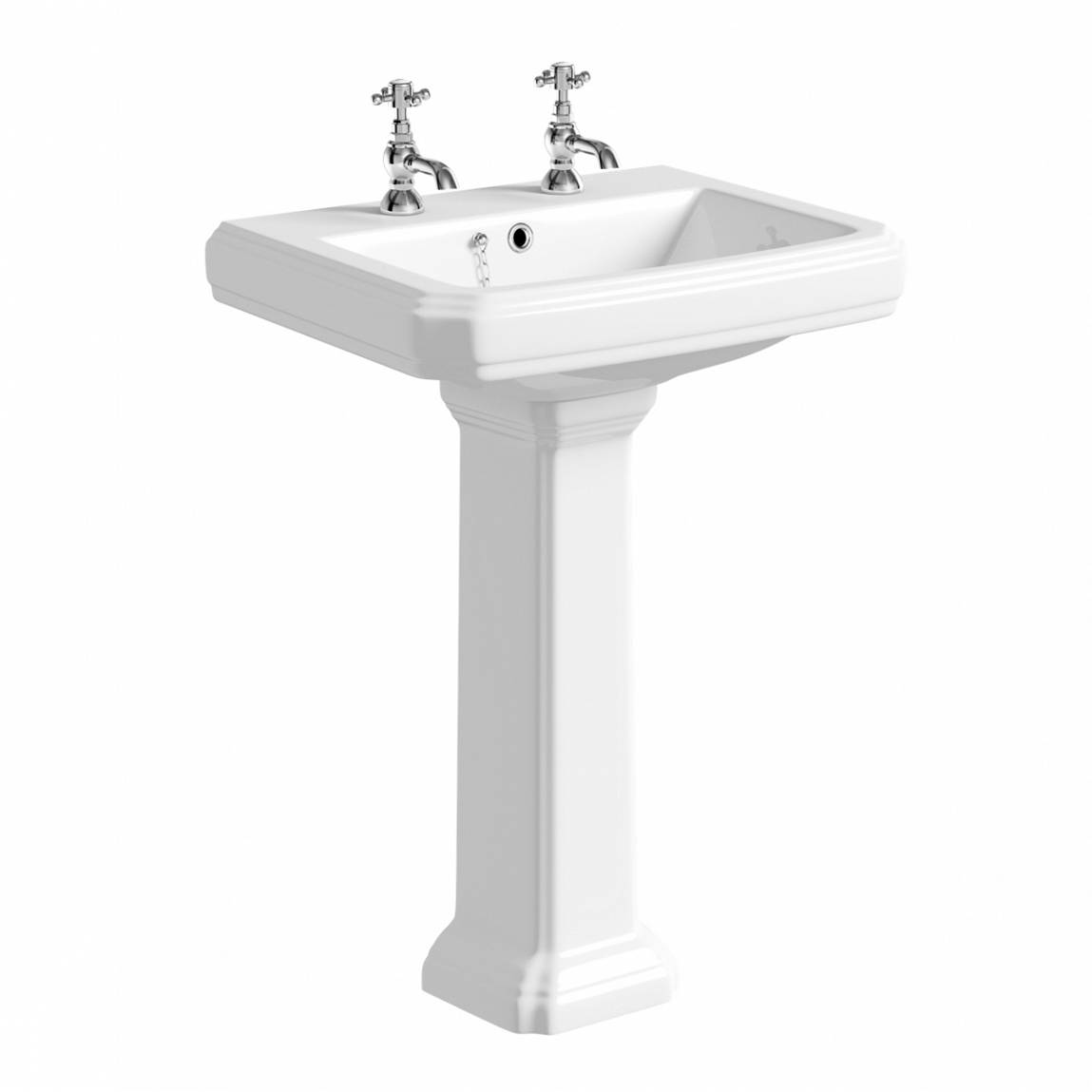 Image of Cavendish 600mm 2TH Basin and Pedestal