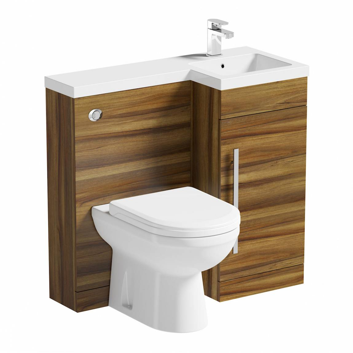 Image of MySpace Walnut Combination Unit RH with Autograph BTW Toilet