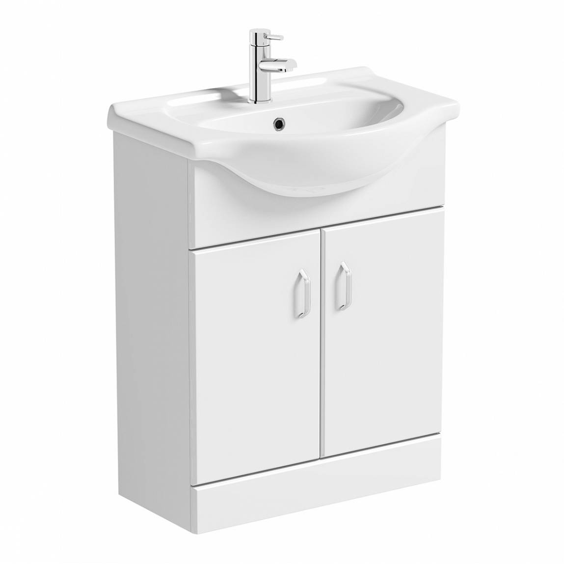 Image of Granada 650 White Vanity Unit & Basin