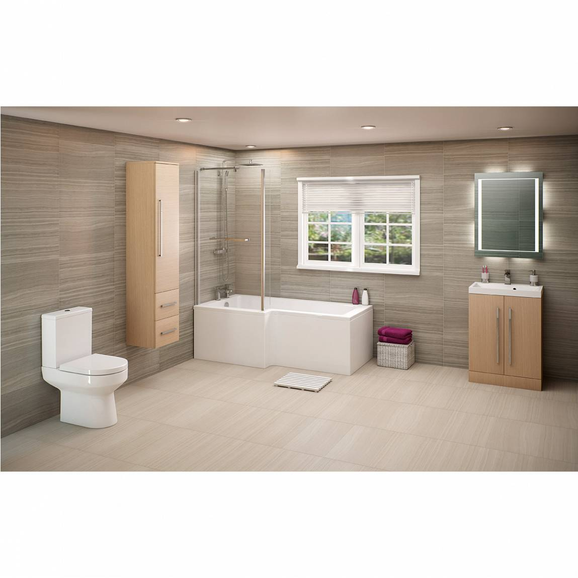 Image of Drift Shower Bath Suite LH