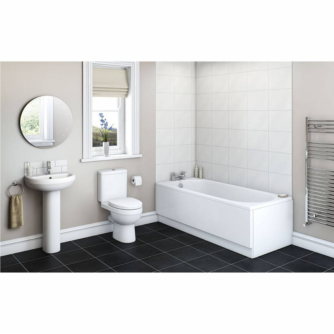 Image of Energy Bathroom Set with Richmond 1700 x 750 Bath Suite