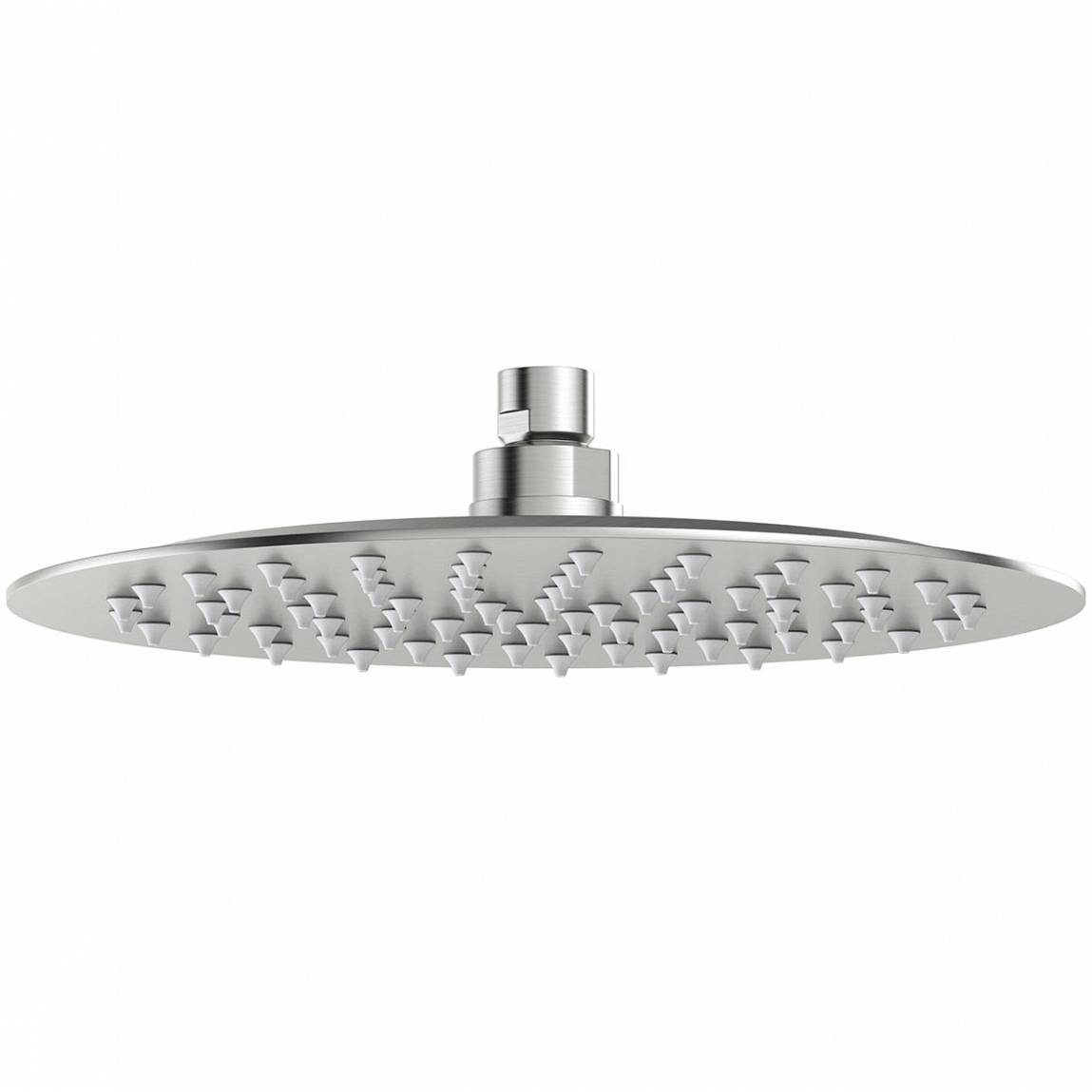 Image of Brushed Stainless Steel Waifer Shower Head Round 250mm