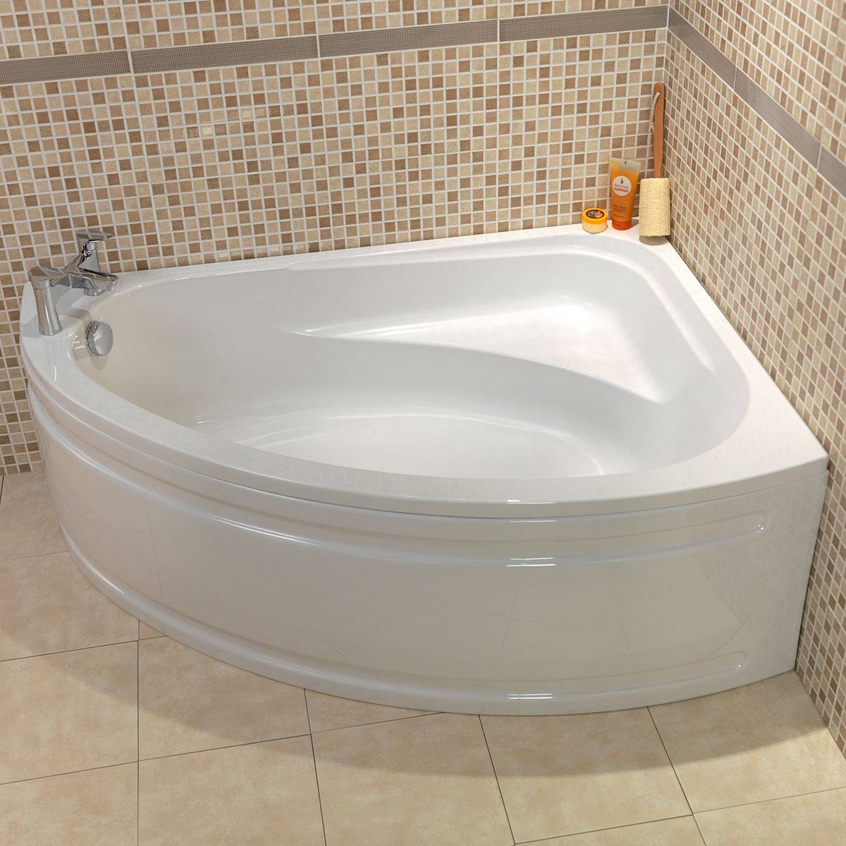 Corner baths and back to wall baths for Bathroom designs with corner bath