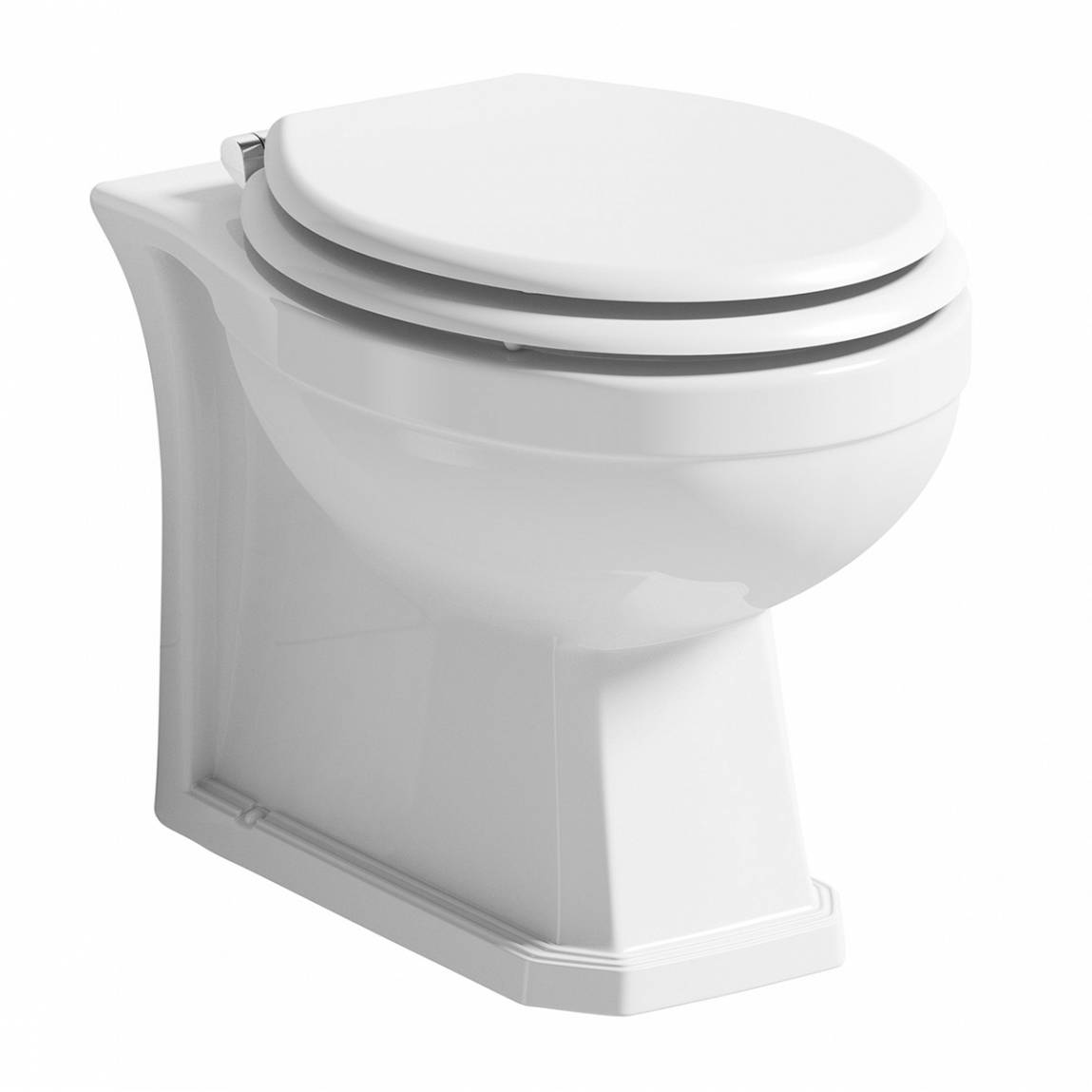 Image of Regency Back to Wall Toilet inc Luxury White MDF Seat