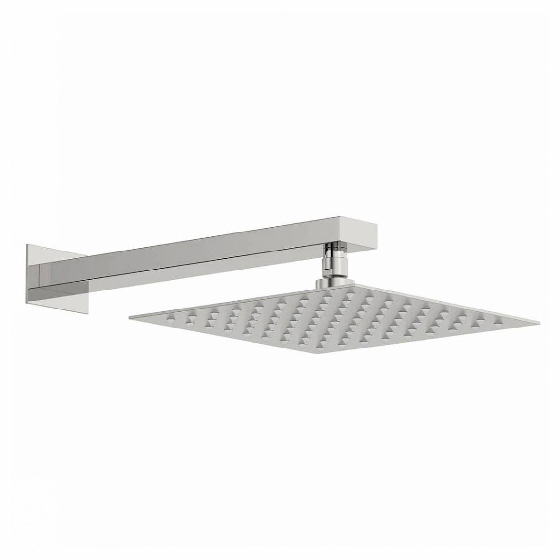 Image of Incus 250mm Shower Head & Rectangular Wall Arm