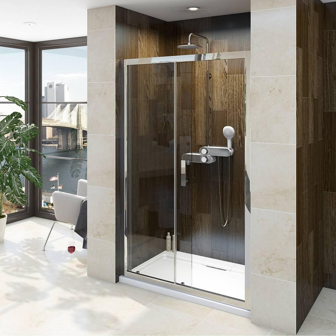 V8 8mm framed sliding shower door 1200 for 1200 slider shower door