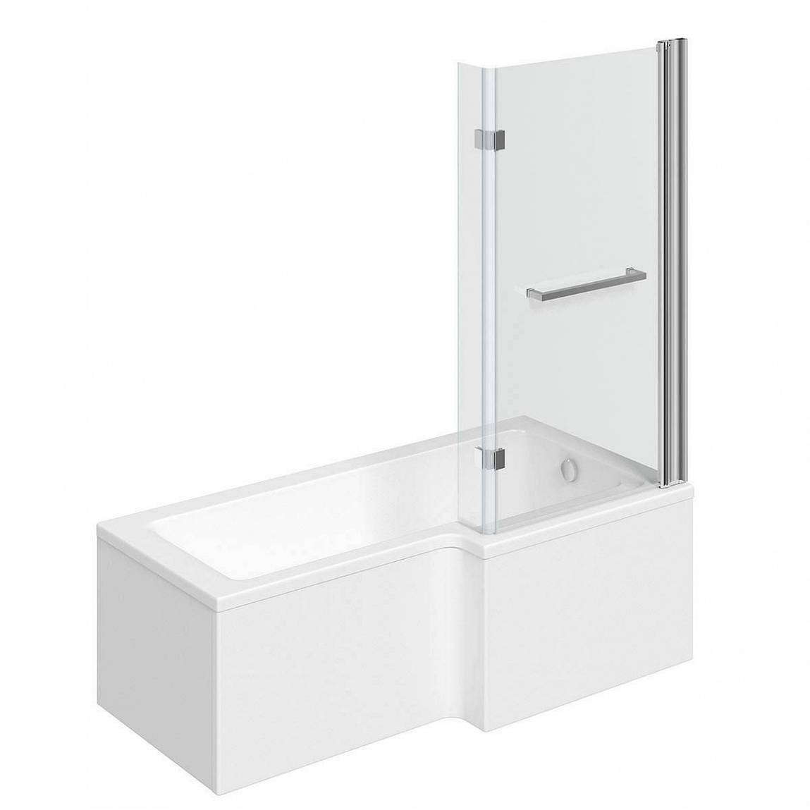 Image of Boston Shower Bath 1700 x 850 RH inc. 8mm Hinged Screen with Towel Rail