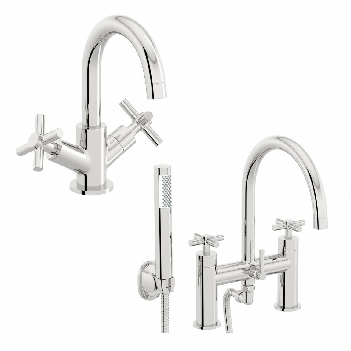 Image of Alexa Basin and Bath Shower Mixer Pack