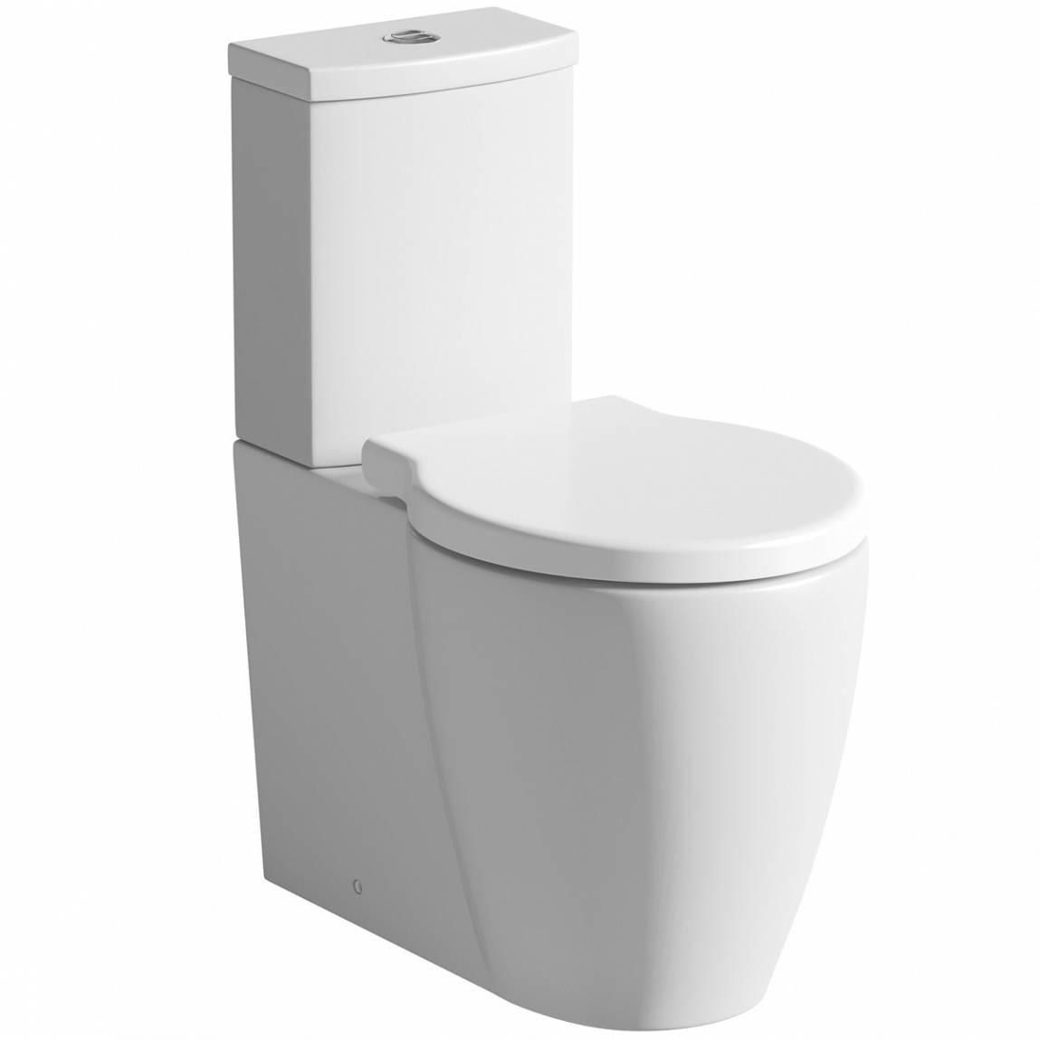 Image of Maine Close Coupled Toilet inc Luxury Soft Close Seat + Shut Off Valve