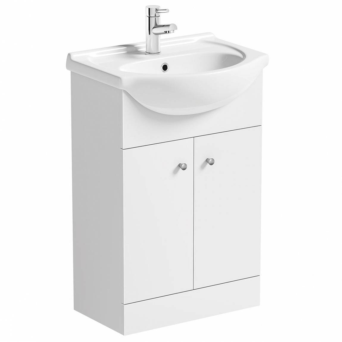 Image of Prague White Floor Standing 55 Unit with Basin