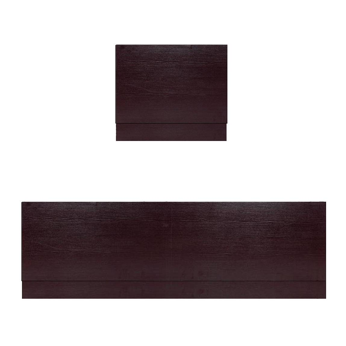 Image of Wenge Effect Straight Bath Panel Pack 1800 x 800